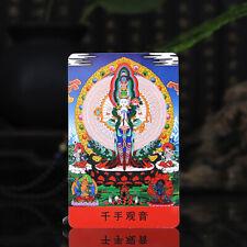 "3.4"" Tibet Tibetan Buddhism  Amulet thangka Thousand-hand Bodhisattva Buddha"