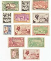 Guadeloupe used stamp lot of 13 stamps as pictured
