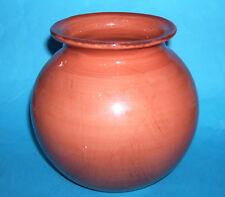 Ceramica fatto a mano ITALIANA-INTERESSANTE bulbosa (colore scuro salmone) VASO (M. M).
