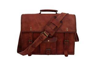 """Leather Briefcase Messenger Crossbody Shoulder Bag 15.6"""" Laptop Satchel Handbags"""