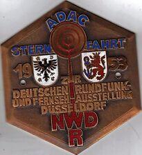 PLACCA ADAC-Badge Stella viaggio 1953 Dtsch. radio – fernsehausst. Düsseldorf