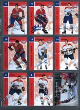 Lot of 18 Signed Montreal Canadiens Parkhurst Cards Jean Beliveau Henri Richard!