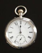 Victorian Solid Silver Pocket Watch, London 1886 / montre gousset