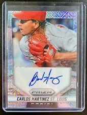 2014 Panini Prizm CARLOS MARTINEZ Autograph Mojo Refractor SP /75 Cardinals