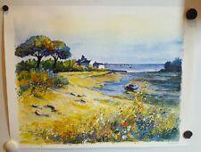Affiche/ impression / poster Aquarelle de Kerfily. Réf A395.