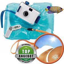 Strand-Set: Unterwasserkamera + digitaler UV-Meter + aufblasbares Kopfkissen