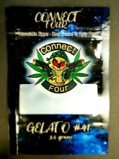 Connect Four Gelato 41 Black 3.5g x25 Mylar Bag Smell Proof & Heat Sealable