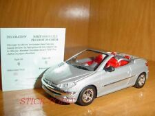 PEUGEOT 206 CC SILVER 1999 1:43 INCLUDES BOX!!!