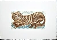 Rainnie Felicity Pencil Signed Vintage Etching Print Limited Edition Number 120