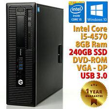 PC COMPUTER DESKTOP RICONDIZIONATO HP 400 G1 CORE i5-4570 8GB SSD 240GB WIN 10