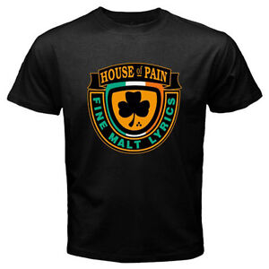 New HOUSE OF PAIN FINE MALT LYRICS Logo Men's Black T-Shirt Size S to 3XL