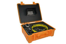 "50M Drain Sewer Cam W/ 7""Mon. + DVR + 512Hz Sonde Pipeline Inspection System"