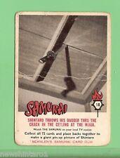 SCANLENS 1964 SAMURAI TV CARD #18 SHINTARO PUTS DAGGER THROUGH ROOF