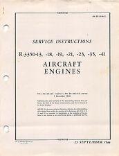 R-3350-18, -23, -41 Aircraft Radial Engine Service Inst's Flight Manual  (cd)