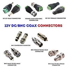 CCTV Camera CAT5 Video Balun Coax BNC RCA Phono DC 12V Connectors wholesale UK