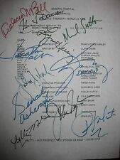General Hospital Signed TV Script 1995 Michael Sutton Kimberly McCullough reprnt