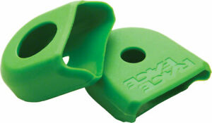 Crank Boots - For Carbon - RaceFace Crank Boots: For Carbon Cranks, 2-Pack Green
