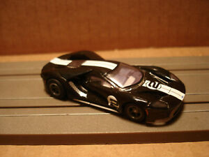 TOMY AFX H.O. SCALE SET ONLY SLOT CAR FORD GT #2 BLACK WHITE STRIPES NEW