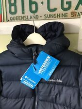 Boys, Columbia Navy Blue Puffer Jacket Coat. Size Small Age 8. Winter Warm
