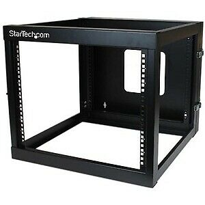 Startech 8U 22In Depth Hinged Open Frame Wall Mount Server Rack Cold-Rolled