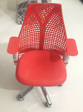 """1/6 Scale Red Office Chair with Wheels for 12"""" Action Figures"""