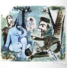 "OSTENTATIOUS PABLO PICASSO HAND SIGNED LITHOGRAPH ""LES DEJEUNERS"" 1962"