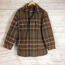 Banana Republic Men's 100% Wool Plaid Jacket Coat Zipper Cabinwear Lined Size XS