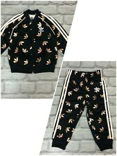ADIDAS GIRLS ROSE GOLD TREFOIL TRACK PANTS/TOP *SOLD SEPARATELY* CHILDRENS A