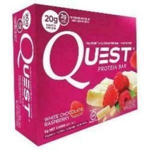Quest White Chocolate Raspberry Flavor Protein Bars, 2.1 oz, 4 count