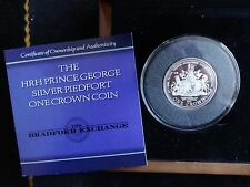 2013 ARGENTO PROOF PMS 1 CORONA PIEDFORT MEDAGLIA BOX + COA Prince George RARO 1/175