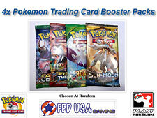 4 Random Pokemon Booster Packs from Newest Sets POKEMON TCG CARDS SEALED PACKS