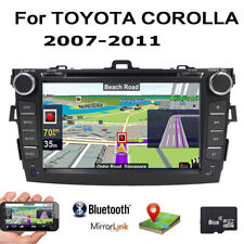 "Fit Toyota COROLLA 2007-2011 8"" Car DVD Receiver Screen Mirror GPS Stereo Radio"