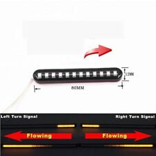 2X Universal Car DRL Mini 12 LED Light Strip Tube Sequential Turn Signal Lights