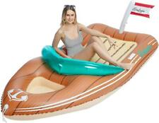 8 ft Inflatable Boat Pool Float with Reinforced Cooler Toys for Kids & Adults
