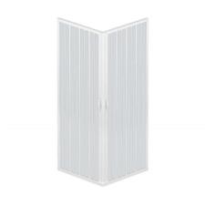 Box doccia Acquario 80x100 cm in PVC con apertura a soffietto angolare
