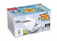 New Nintendo 2DS XL White and Lavender Inc Pre-Installed Tomodachi Life Game New