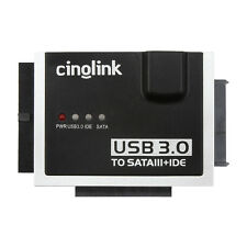 Cinolink USB 3.0 to SATA & IDE Hard Drive Adapter Universal 2.5/3.5/5.25