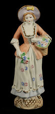 Vntg Chalk Ware Female/Lady Figurine Hand Painted Collectible Occupied Japan