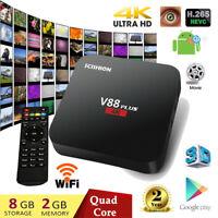 SCISHION V88 plus 4K*2K Smart TV Box 2+8GB Android QuadCore WIFI 3D Media Player