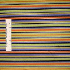 Halloween Fabric - Witchy Poo Green Orange Black Stripe - RJR Cotton YARD