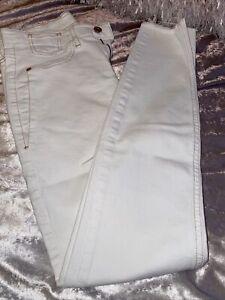 River Island White Ladies Skinny Jeans Size 10 Reg