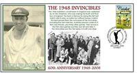 1948 INVINCIBLES 60th ANNIV CRICKET COVER, DON BRADMAN