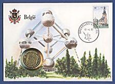 Numisbrief UN New York Belgien Belgie 10 Francs 1971 Stempel 1985 NBA9/62