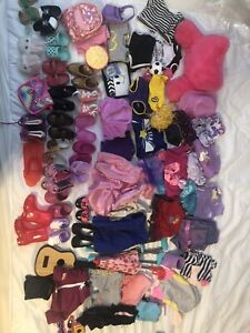 """Our Generation Lot! 18"""" Doll Accessories 20 Shoes Plus Outfits 60+ Items."""