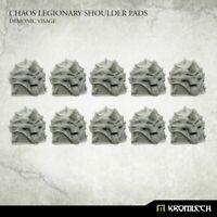 Kromlech BNIB Chaos Legionary Shoulder Pads: Demonic Visage KRCB233