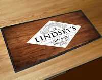 Personalised Gin Label bar runner Pubs & Cocktail Bars Home bars beer mat
