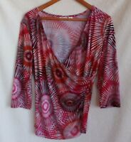 CATO Woman's Casual Floral Blouse/Top Size Medium