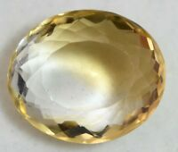 VVS 23.00 CT NATURAL YELLOW BRAZILIAN CITRINE AAA+ QUALITY CERTIFIED GEM STONE