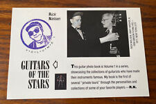 Vintage Guitars Of The Stars Rick Nielsen Cheap Trick Andy Warhol Vol 1 Ad Card