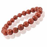 Natürliches Roter Jaspis Armband Perlen 8 mm für Reiki Heilkristall Heilstein